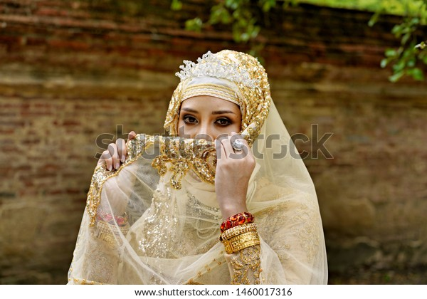 Woman Brunai Islamic Marriage Dress Stock Photo (Edit Now) 1460017316