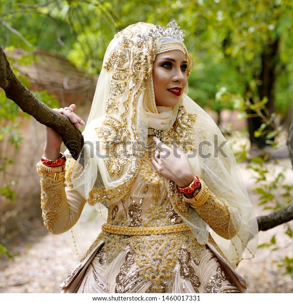Woman Brunai Islamic Marriage Dress Stock Photo (Edit Now) 1460017331