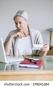 Woman buying medicines online.