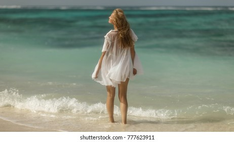 Woman by the sea
