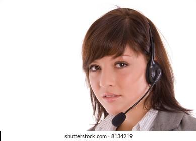 woman in callcenter
