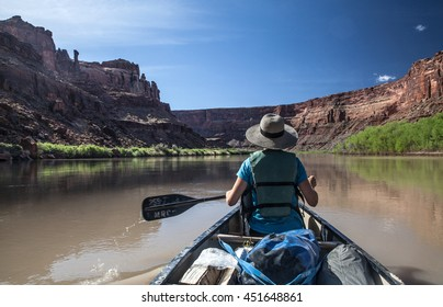 Woman in a canoe on Utah's Green River