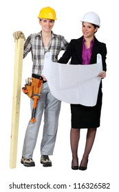 Woman carpenter and businesswoman