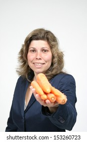 woman with carrots, healthy food, health concept
