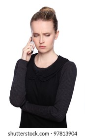 woman cellphone angry