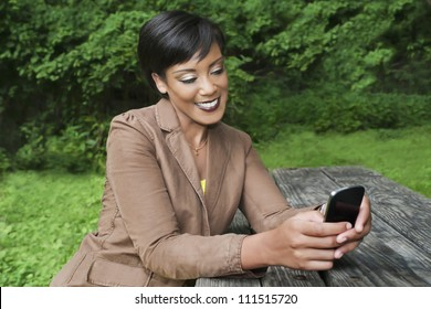 Woman chatting on her cell phone