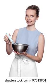 woman chef mixer