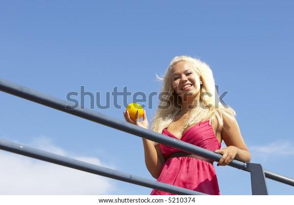 Woman chilling