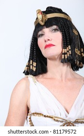 Woman in Cleopatra costume