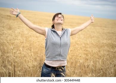 a woman climbs the hill
