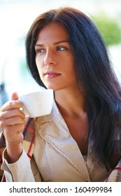 woman in the coffee shop