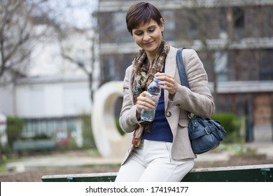 Woman With Cold Drink