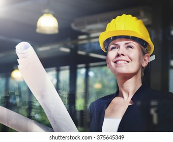Woman Construction Worker Project Design Concept