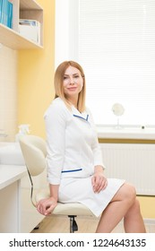 woman cosmetology master doctor in room