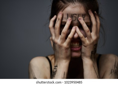 woman crying, insult, offense