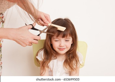 Little Girl Haircut Images Stock Photos Vectors Shutterstock
