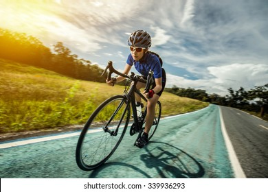 Woman Cycling outdoor exercise bike paths