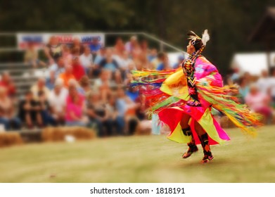 Woman dancer at the Trail of Tears annual pow wow