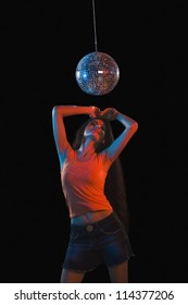 Woman dancing in a nightclub