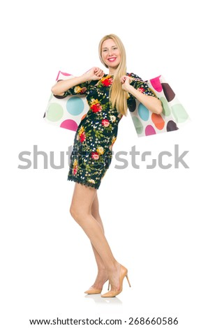 8ecc16544ccb Woman Dark Green Floral Dress Isolated Stock Photo (Edit Now ...