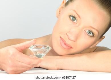 woman with diamond