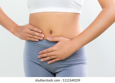 Woman digestion good  about bowel food stomach