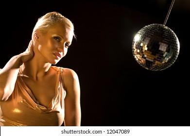 Woman and Disco Ball