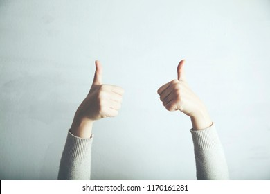 woman doing positive gesture with hand