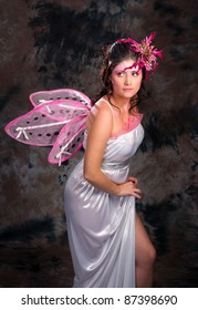 woman dressed Pink Fairy for any holiday