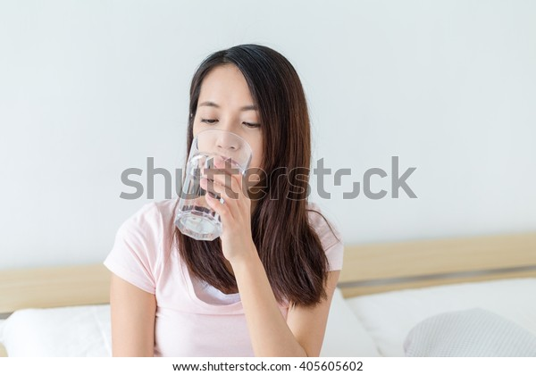 Woman drink of water