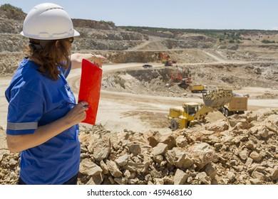 woman engineer at mine as leader