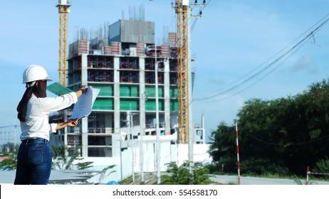 Woman engineering Construct buildings
