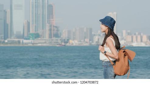 Woman enjoy the sea view