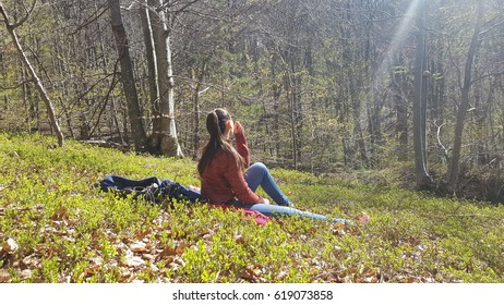 Woman enjoying freedom and life in beautiful natural environment