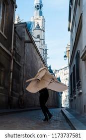 Woman enjoying Paris