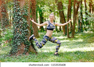 Woman exercise in park