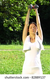 Woman exercising in nature