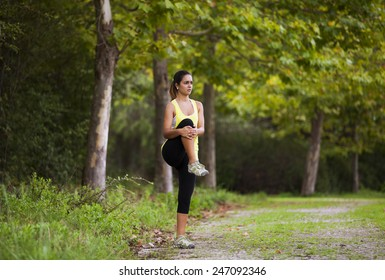 Woman exercising in outdoor