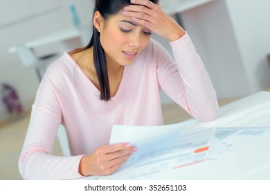 Woman experiencing money problems