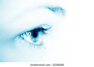 woman eye/ macro shot