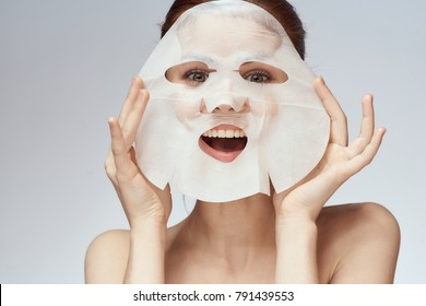 woman in a face mask, beauty, youth, skin care