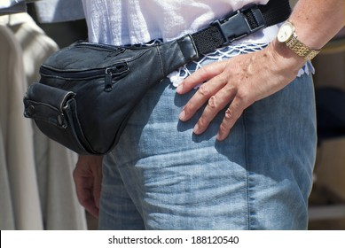 Woman with a fanny pack