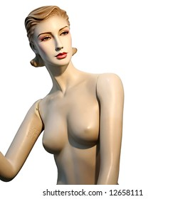 woman fashion mannequin on white background