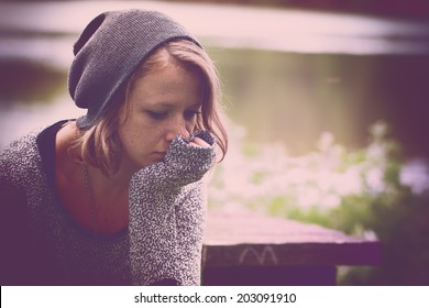 Woman feeling so alone