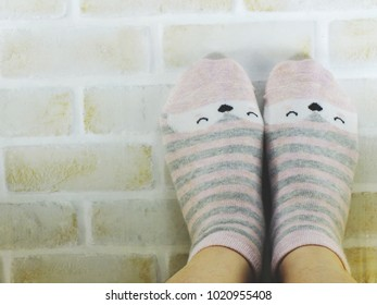 woman feet relaxing and comfort holiday concept background vintage toning