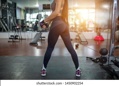 Woman fitness in the gym sport club