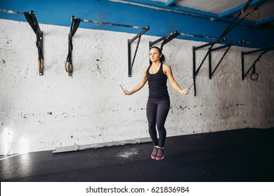 woman fitness Jumping Rope excercises