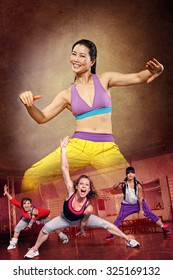 woman at fitness or sport dancing