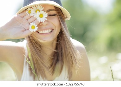 Woman with a flower