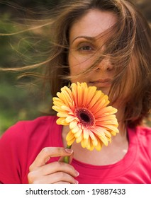 woman with gerber outdoor